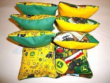 8 Cornhole Bags Set Corn Hole Toss John Deere GR/YW