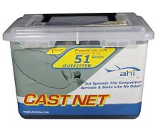 AHI OUTFITTER SERIES 6' CAST NET SERIES 51 IN PLASTIC CASE 1lb PER FOOT CN-561