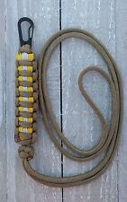 "Paracord ""Turnout Gear"" Adjustable Neck Lanyard with Clip"
