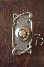 Style art nouveau laiton avant porte bouton poussoir sonnette Bell pousseur Z1