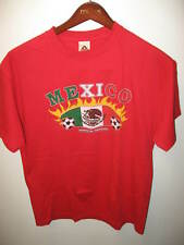 Mexico World Soccer Football Flag Red T Shirt NEW Large