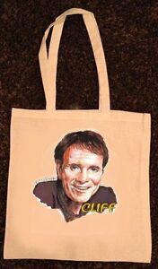 CLIFF RICHARD no.2 NATURAL COTTON TOTE BAG shopping bag