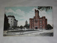 VINTAGE 1907 STATE ARMORY BANCROFT SCHOOL WOMANS CLUB  WORCESTER MASS   POSTCARD
