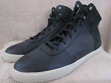SUPRA Black Hi Top Black & Gray Leather Shoes Sneakers Size US 11 M EUR 45 NWOB