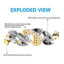 Hand Spinner Fidget - Egyptian Beetle - Zn Titanium alloy Classic 1-2 minutes