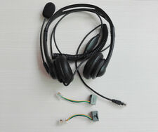 Call Center Headset Corded Wired Mic Head Phone for desk RJ11 for all Telephones