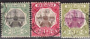 BERMUDA 1902/3 STAMP Sc. # 28/30 USED