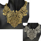 Fashion Hollow Out Flower Statement Chain Bib Collar Chunky Necklace Pendant
