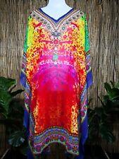 Plus Size Sheer Chiffon Embellished Kaftan Digital Printed Size 18-20-22-24-26