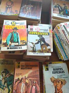 """LOTE 50 NOVELAS MUY ANTIGUAS DEL OESTE  DE M. LAFUENTE """"ESTEFANIA"""" AÑOS 60/70"""