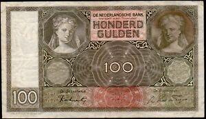 PAYS BAS 100 Gulden 03.MEI.1941 ;Pick#49a.