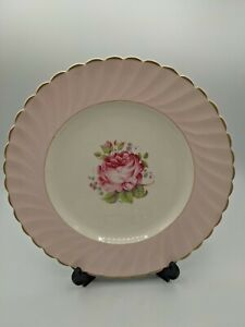 Clarice Cliff Miniver Rose Royal Staffordshire Dinner Plate 10 Inches C 1945