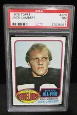 1976 Topps #220 Jack Lambert PSA NM 7             ENN COINS