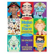 New Melissa & Doug Make-A-Face Crazy Characters Sticker Pad with 160+ Stickers