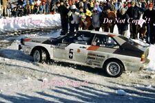 Hannu Mikkola Audi Quattro Monte Carlo Rally 1981 Photograph 1