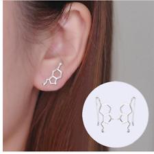Womens Earrings Chemistry Serotonin Molecule Ear Studs Geometric Jewellery