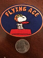 "SNOOPY FLYING ACE iron on patch NEW 3"" X 2"""