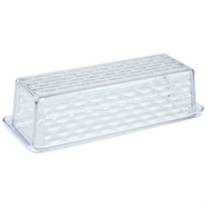 New Cooking Concepts Clear Plastic Textured Butter Dish