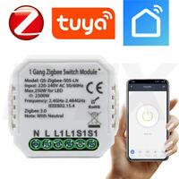TUYA ZigBee Drahtlose 1-Stromkreis- Licht Schalter Modul Relais L&N erforderlich