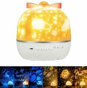 LED Sternenhimmel Nachtlicht Projektor Lampe mit Musik Erwachsene Kinder Baby