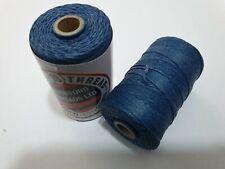 Waxed Linen thread  18 / 4 .      100 metre spool Royal Blue