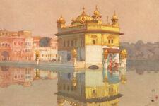 "Japanese Art Woodblock Print India ""Golden Temple in Amritsar"" YOSHIDA HIROSHI"