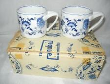 "(6) VINTAGE 3 1/8"" BLUE DANUBE CHINA BLUE ONION MUGS EXCELLENT"