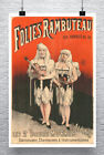 Albinos Vintage French Folies Sideshow Poster Giclee Print on Canvas or Paper