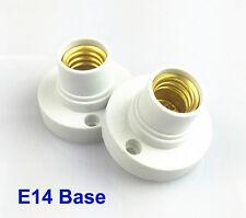 2X E14 Lampenfassung Glühbirne Sockel LED Kunststoff Deckenfassung Deutsche Post