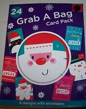 NIP Card Pack Whimsical CHRISTMAS Greeting Cards 24 Cards With Envelopes