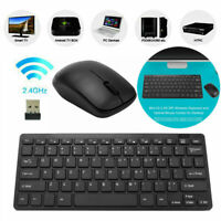 2.4G Wireless Keyboard and Cordless Mouse Combo Slim Multimedia for PC Laptop
