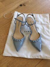 Zara shoes size 4 (37) pastel blue kitten heels excellent condition