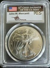 2015 (P) PCGS MS69 SILVER EAGLE MERCANTI STRUCK AT PHILADELPHIA MINT ONLY 79,640