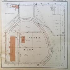 1925 KANSAS CITY MISSOURI TRUMAN SPORTS ACADEMY BIG BLUE RIVER ATLAS MAP