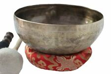 3rd Eye or Pineal Chakra A Note Hand Hammered Tibetan Meditation Singing Bowl 9""