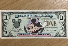 1996 Disney Dollars $1 Collectable Mickey Mouse Front, Memorabilia Discontinued