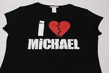 I LOVE MICHAEL - ROTO Corazón - Negro - Niña Talla Grande Camiseta