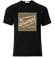 Triumph Motorcycle  - Graphic Cotton T Shirt Short & Long Sleeve