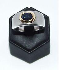 Unbehandelte Echte Edelstein-Ringe mit Saphir