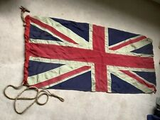 More details for original ww1 linen military union jack flag with makers name, 1914