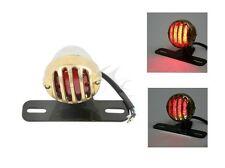 12V Tail Light Lamp License Plate Bracket For Harley Triumph Bobber Chopper Gold
