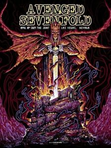 Avenged Sevenfold The Joint 4/18/09 Concert Poster Screen Print
