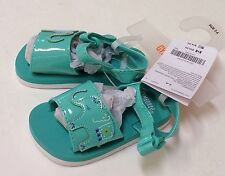 Nwt Gymboree Safari Smiles Aqua Elephant Sandals Shoes Sz 03-04 for 6-12 Months