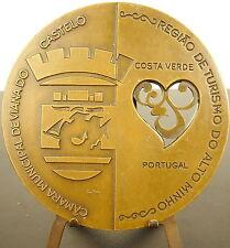 Médaille portugaise percée curiosité Costa Verde Portugal gastronomie 89mm Medal