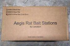 (6 Pack)Rodent Bait Station White Aegis Rat Bait Stations 83814