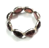 Garnet Natural Gemstone Handmade 925 Sterling Silver Ring Size 7
