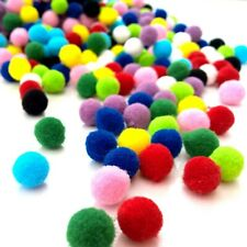 10mm Pom Poms ~ 100 Pack Assorted Colour Finest Quality 10mm Pompoms for Crafts