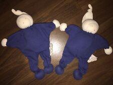 1 Stück- Schmusetuch Kuscheltuch Weiß Blau Puppe Cotton People Organic Waldorf