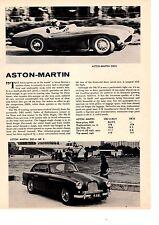 1957 ASTON MARTIN DB3S / DB2-4 MK II  -  NICE ORIGINAL ARTICLE / AD