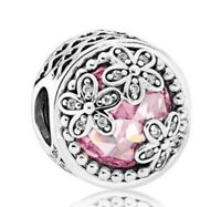 925 sterling silver charm with Dazzling Daisy Meadow Openwork Charms Jewelry